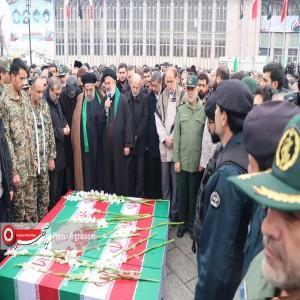 مراسم تش ییع شهدای سانحه سقوط هواپیمای اوکراینی در همدان برگزار شد